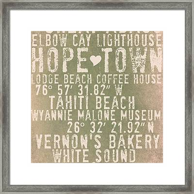 Hope Town Living V1 Framed Print by Brandi Fitzgerald