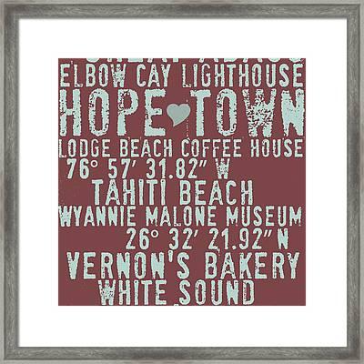 Hope Town Living V2 Framed Print by Brandi Fitzgerald