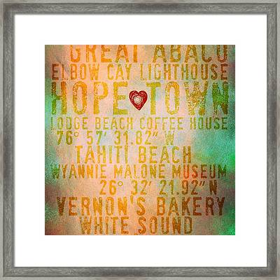 Hope Town Living V4 Framed Print by Brandi Fitzgerald