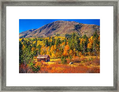 Hope Valley California Rustic Barn Framed Print by Scott McGuire