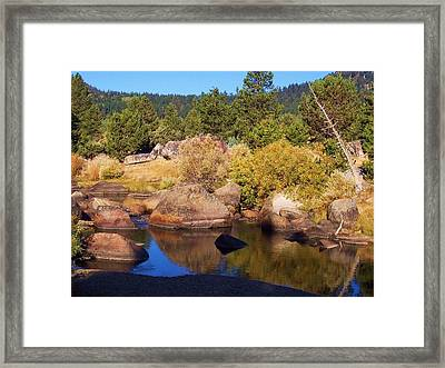 Hope Valley River Framed Print by Russell  Barton