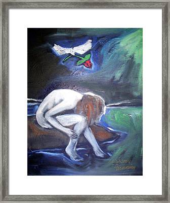 Framed Print featuring the painting Hope  by Winsome Gunning