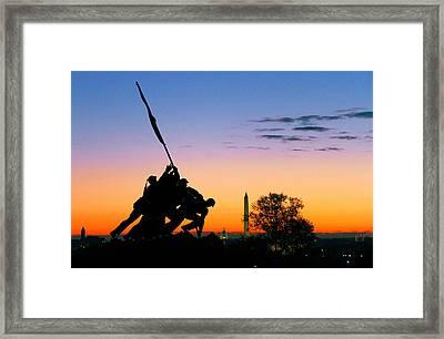 Hopeful As The Dawn Framed Print by Mitch Cat