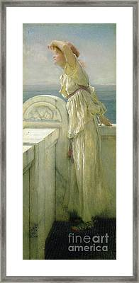 Hopeful Framed Print by Sir Lawrence Alma-Tadema