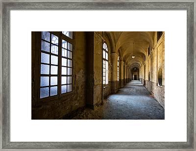 Hopelessly In Hope - Abandoned Mental Institution Framed Print by Dirk Ercken