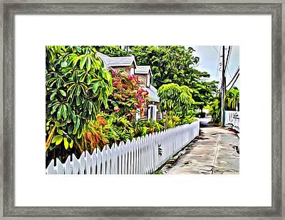 Hopetown Alley  Framed Print
