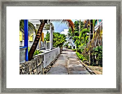 Hopetown Backstreet Framed Print
