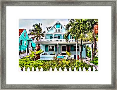 Hopetown Homes Framed Print