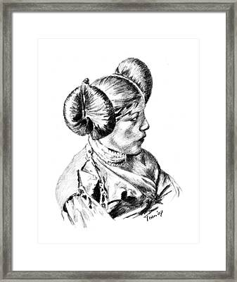 Hopi Girl Framed Print