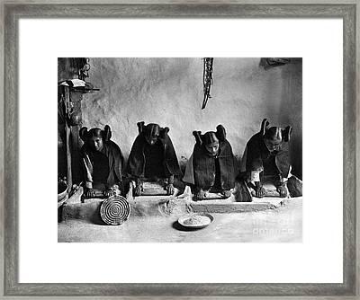 Hopi Grinding Grain, C1906 Framed Print by Granger