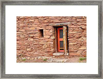 Hopi House Door Framed Print by Julie Niemela