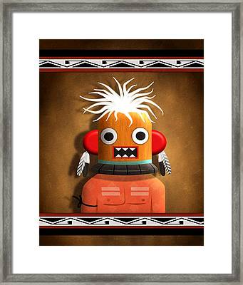 Hopi Indian Kachina Framed Print