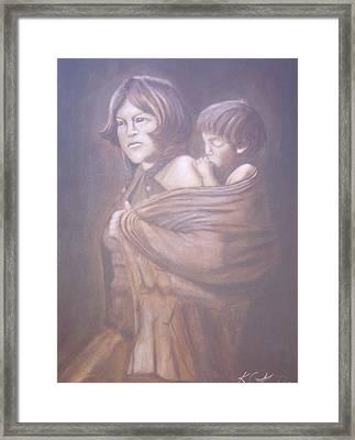 Hopi Mother Framed Print by KC Knight