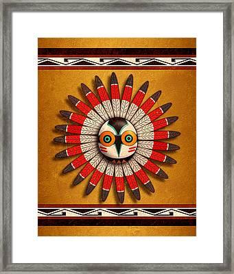 Hopi Owl Mask Framed Print by John Wills