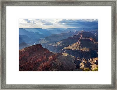 Framed Print featuring the photograph Hopi Point Sun Rays by Beverly Parks