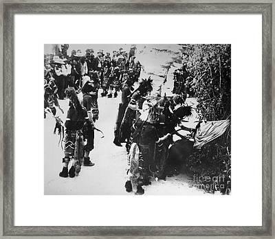 Hopi Snake Priests 1903 Framed Print