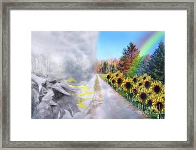 Hoping For A Better Life Framed Print by Cathy  Beharriell
