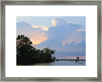 Hoping For An Evening Shower Framed Print