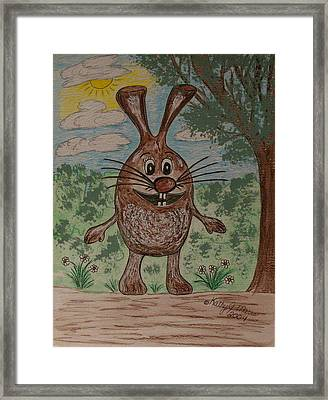 Framed Print featuring the painting Hopper Doodle Bolak by Kathy Marrs Chandler