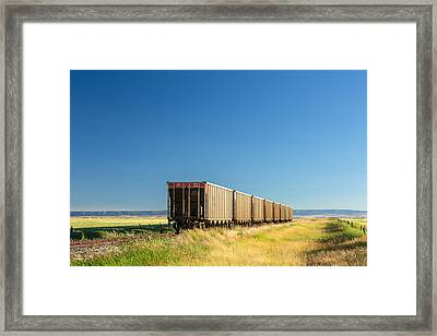 Hopper Row Framed Print