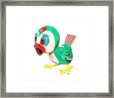 Hopping Billy The Bird Framed Print