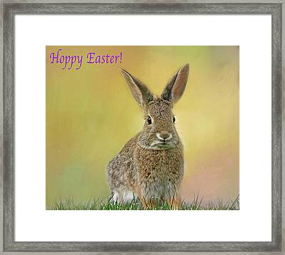 Framed Print featuring the photograph Hoppy Easter  by Donna Kennedy