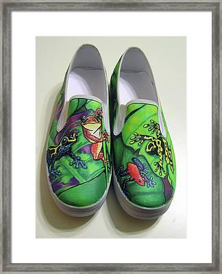 Hoppy Shoes Framed Print