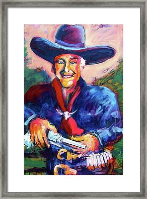 Hoppy's Got A Gun Framed Print