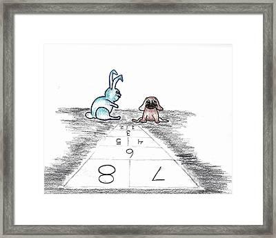 Hopscotch Framed Print by Judy Hall-Folde