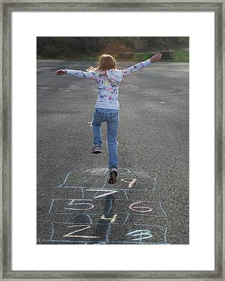 Framed Print featuring the photograph Hopscotch Queen by Richard Bryce and Family