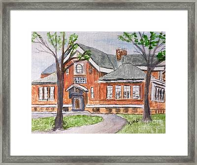Horace Mann School Amesbury Ma Framed Print