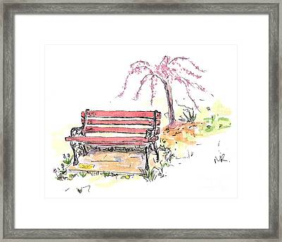 Horace Pippins Bench Framed Print