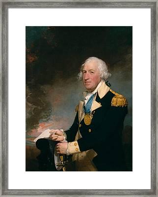 Horatio Gates Framed Print by Gilbert Stuart