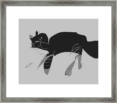 Horatio Tobias Greyscale Framed Print