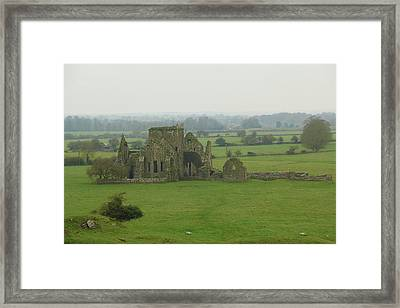 Framed Print featuring the photograph Hore Abbey by Marie Leslie