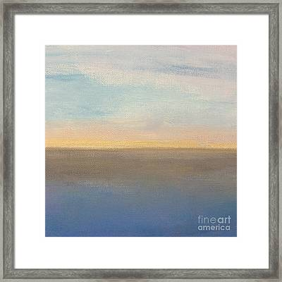 Horizon Aglow Framed Print