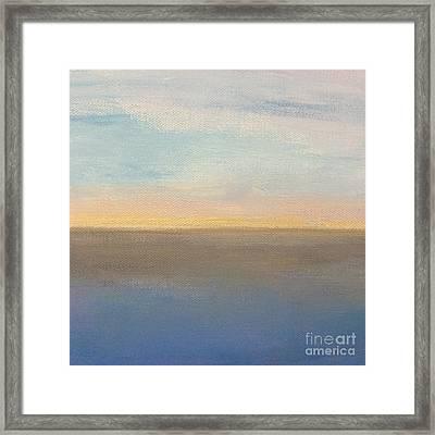Horizon Aglow Framed Print by Kim Nelson