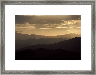 Horizon Depth Framed Print