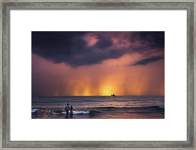 Horizon Framed Print by Marji Lang