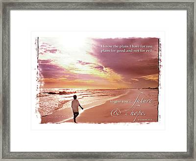 Horizon Of Hope Framed Print by Marie Hicks