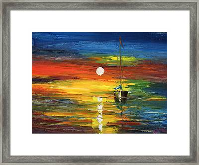 Horizon Sail Framed Print by Ash Hussein