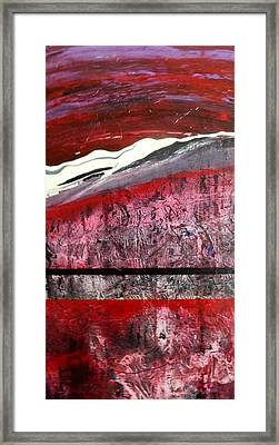 Framed Print featuring the painting Horizon X 3 by Carolyn Repka
