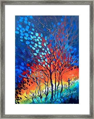 Framed Print featuring the painting Horizons by Linda Shackelford
