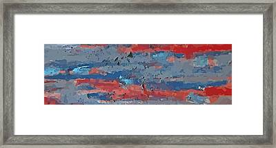 Horizontal Abstraction Framed Print by John Malone