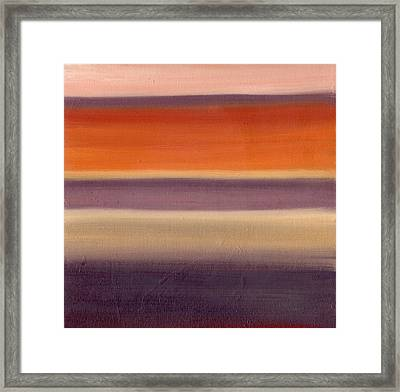 Horizontal Moods Framed Print by Emily Freiman