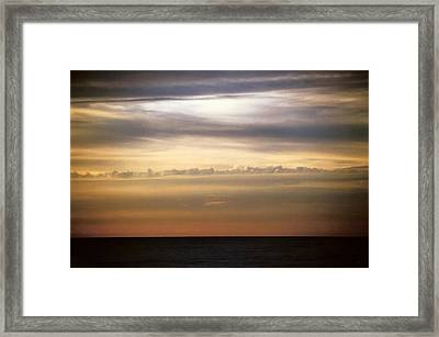 Horizontal Number 11 Framed Print by Sandra Gottlieb
