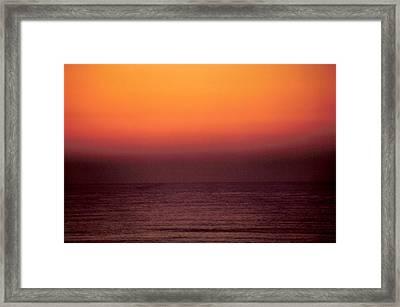 Horizontal Number 14 Framed Print by Sandra Gottlieb