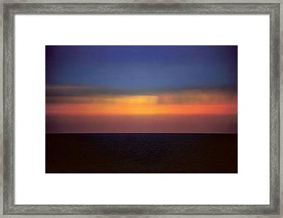 Horizontal Number 17 Framed Print by Sandra Gottlieb