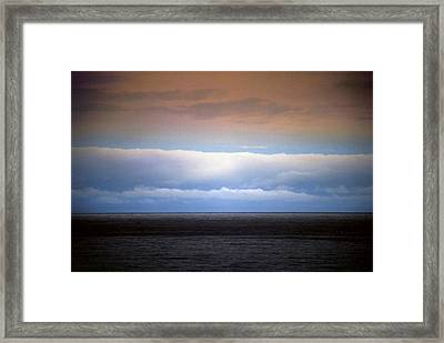 Horizontal Number 7 Framed Print by Sandra Gottlieb