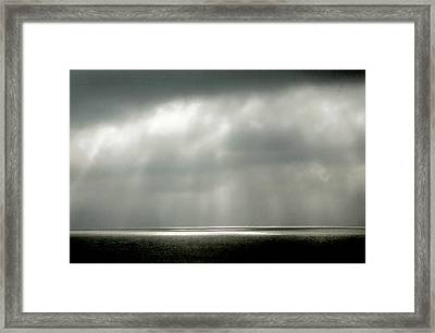 Horizontal Number 9 Framed Print by Sandra Gottlieb